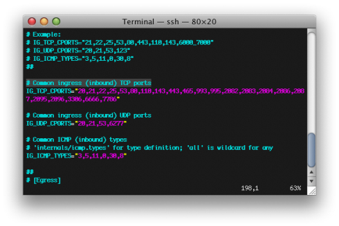 Cấu hình APF Firewall