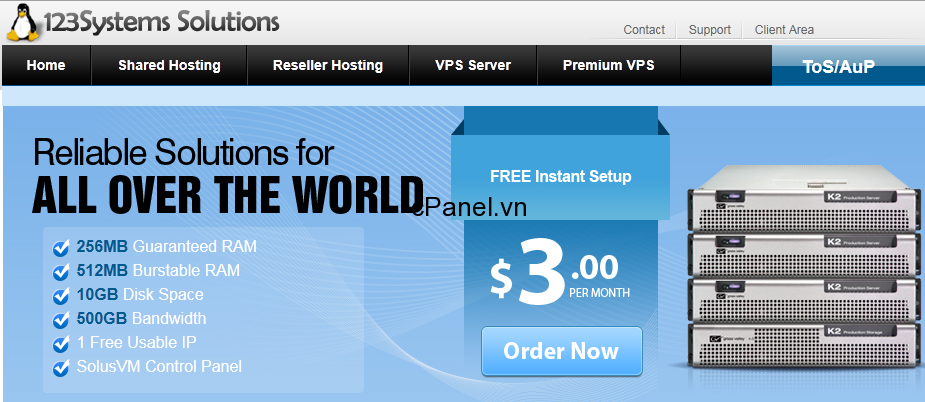 123systems – VPS chỉ với 300.000 VNĐ/năm