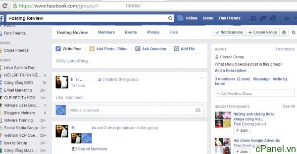 Truy cập vào page mà bạn muốn add bạn bè của mình vào