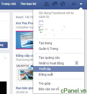 Truy cập phần Thiết lập cá nhân của bạn trên Facebook