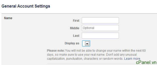 Hướng dẫn cách đổi tên facebook bị giới hạn quá 5 lần (Mới nhất tháng 5 – 2014)