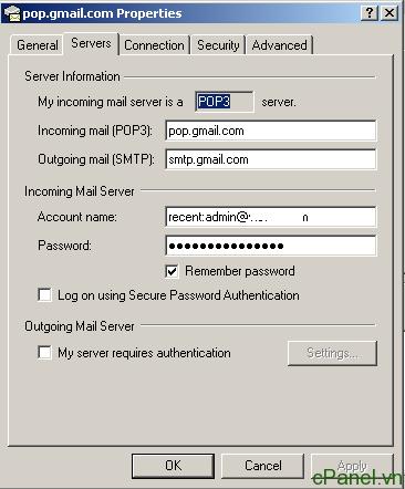 Sử dụng recent mode của gmail để cài đặt 1 email lên nhiều máy